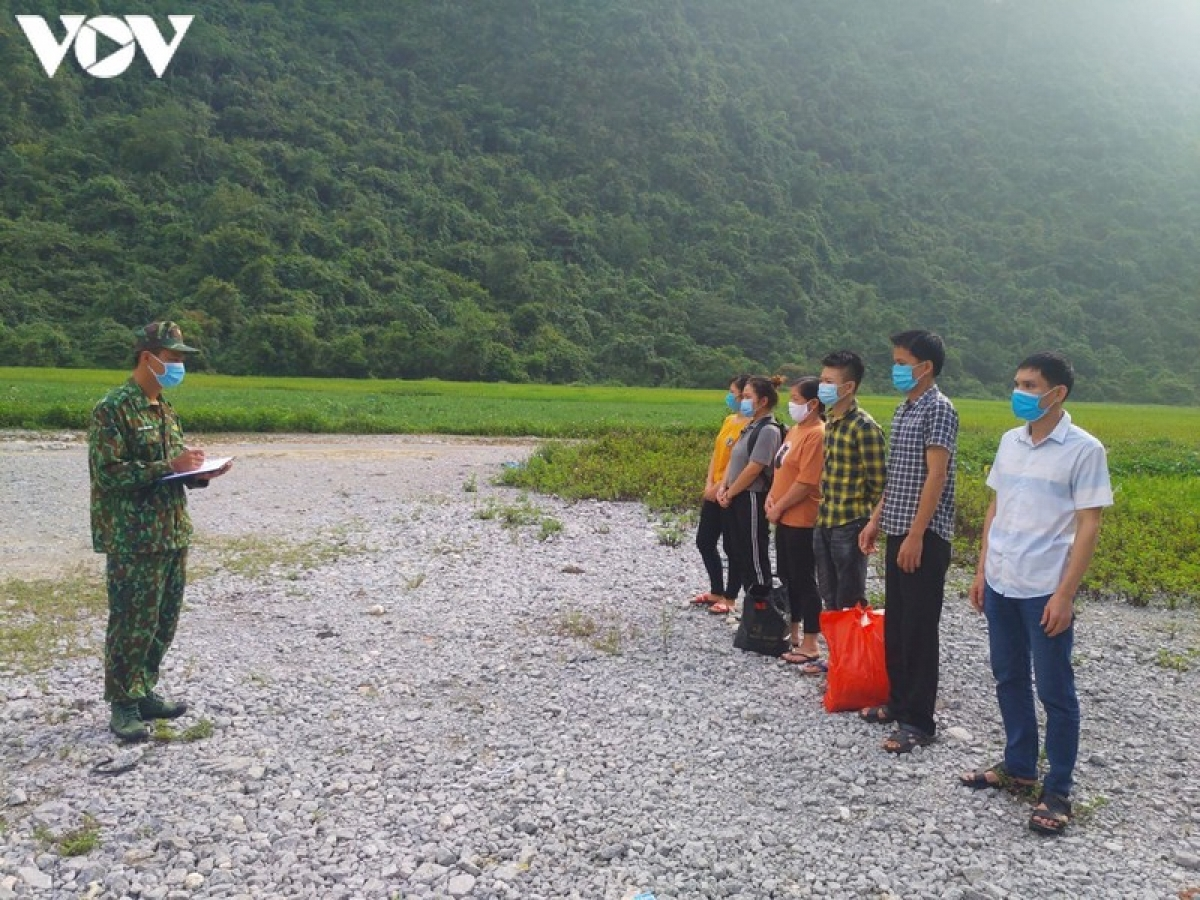 Đồn Biên phòng Quang Long tiếp tục phát hiện hàng chục công dân nhập cảnh trái phép.