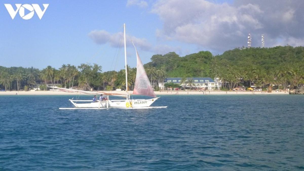 Đảo Boracay là địa điểm du lịch nổi tiếng ở Philippines. Ảnh: Lan Hạ