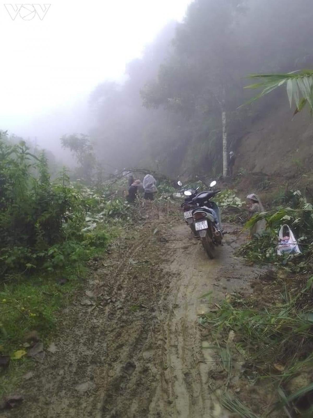 Sạt lở tại A Mú Sung - Bát Xát, Lào Cai.