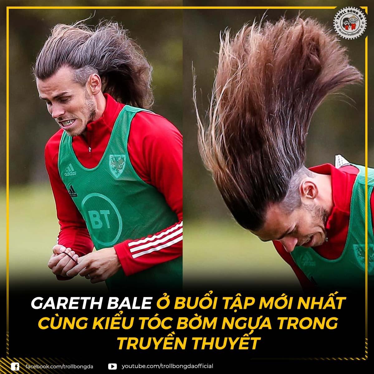 Mái tóc của Gareth Bale. (Ảnh: Troll Bóng Đá)
