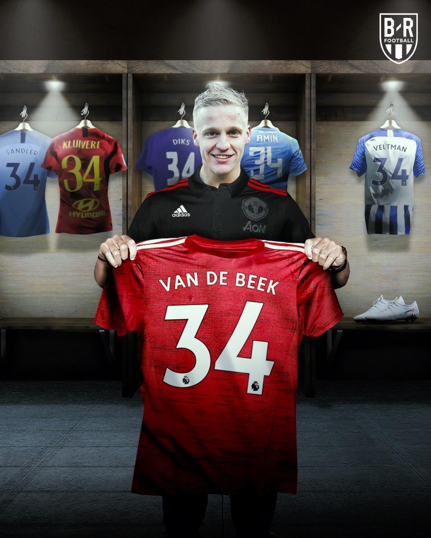 Van De Beek mặc áo số 34 để vinh danh người bạn thân Nouri. (Ảnh: Bleacher Reports)