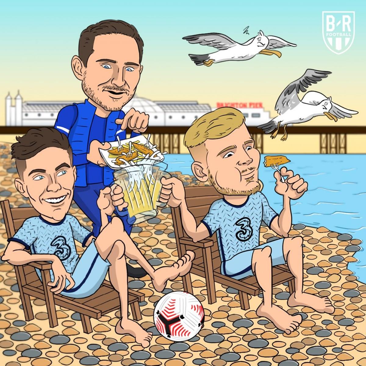 Chelsea thắng nhàn Brighton. (Ảnh: Bleacher Reports)