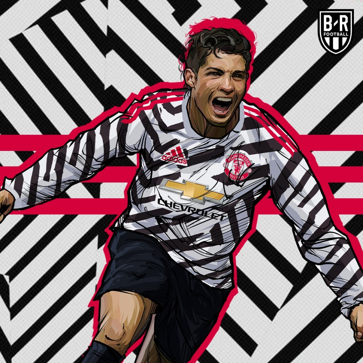 Mẫu áo xấu tệ của MU vẫn sẽ đẹp nếu được khoác lên mình bởi Cristiano Ronaldo. (Ảnh: Bleacher Reports)