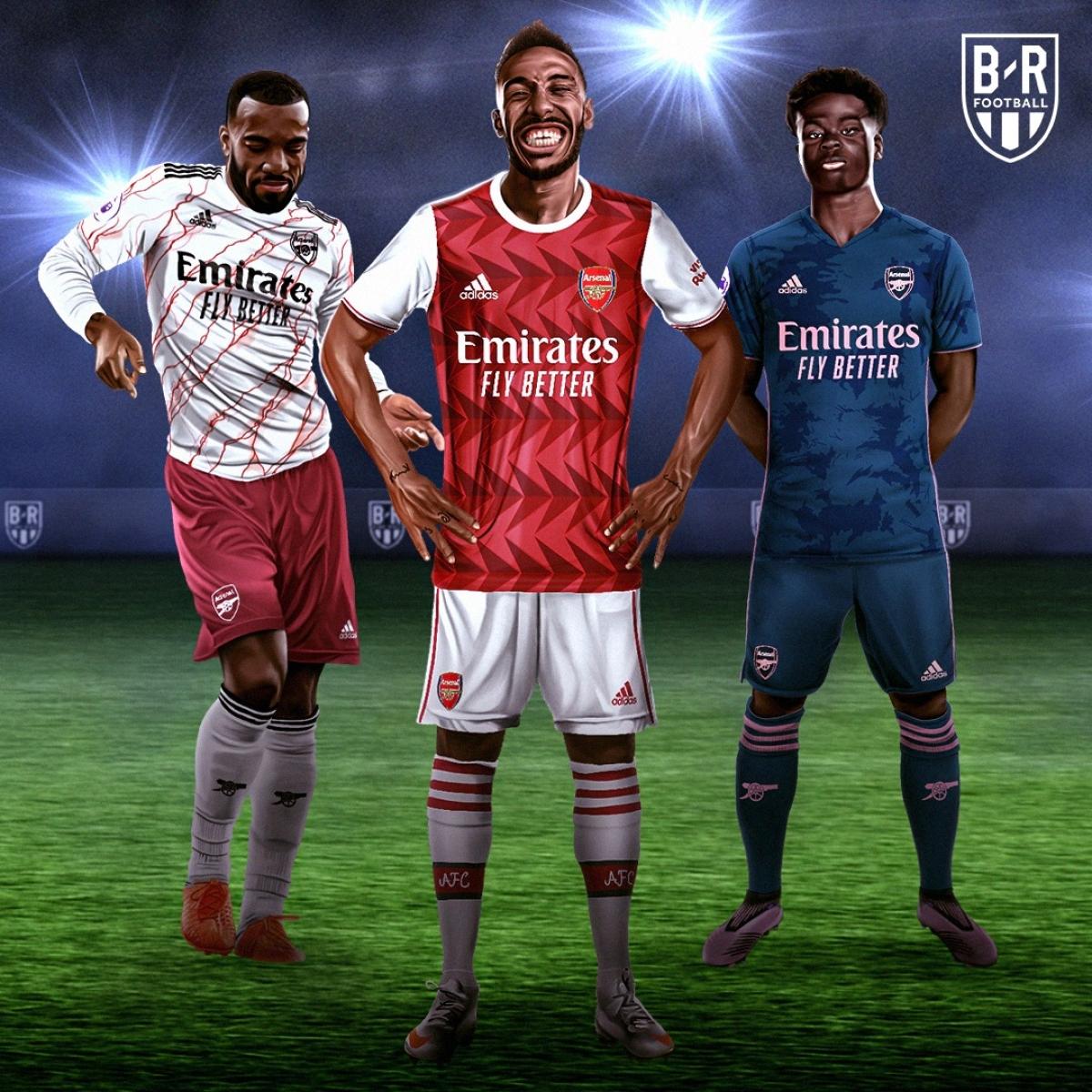 Ba mẫu trang phục của Arsenal