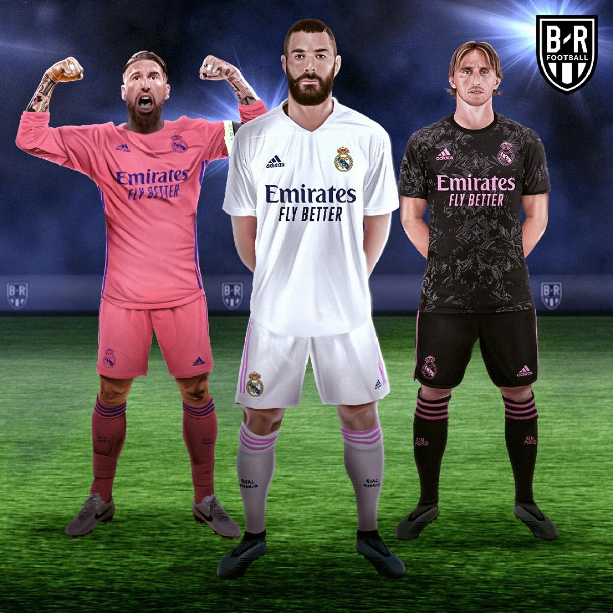 Ba mẫu trang phục của Real Madrid