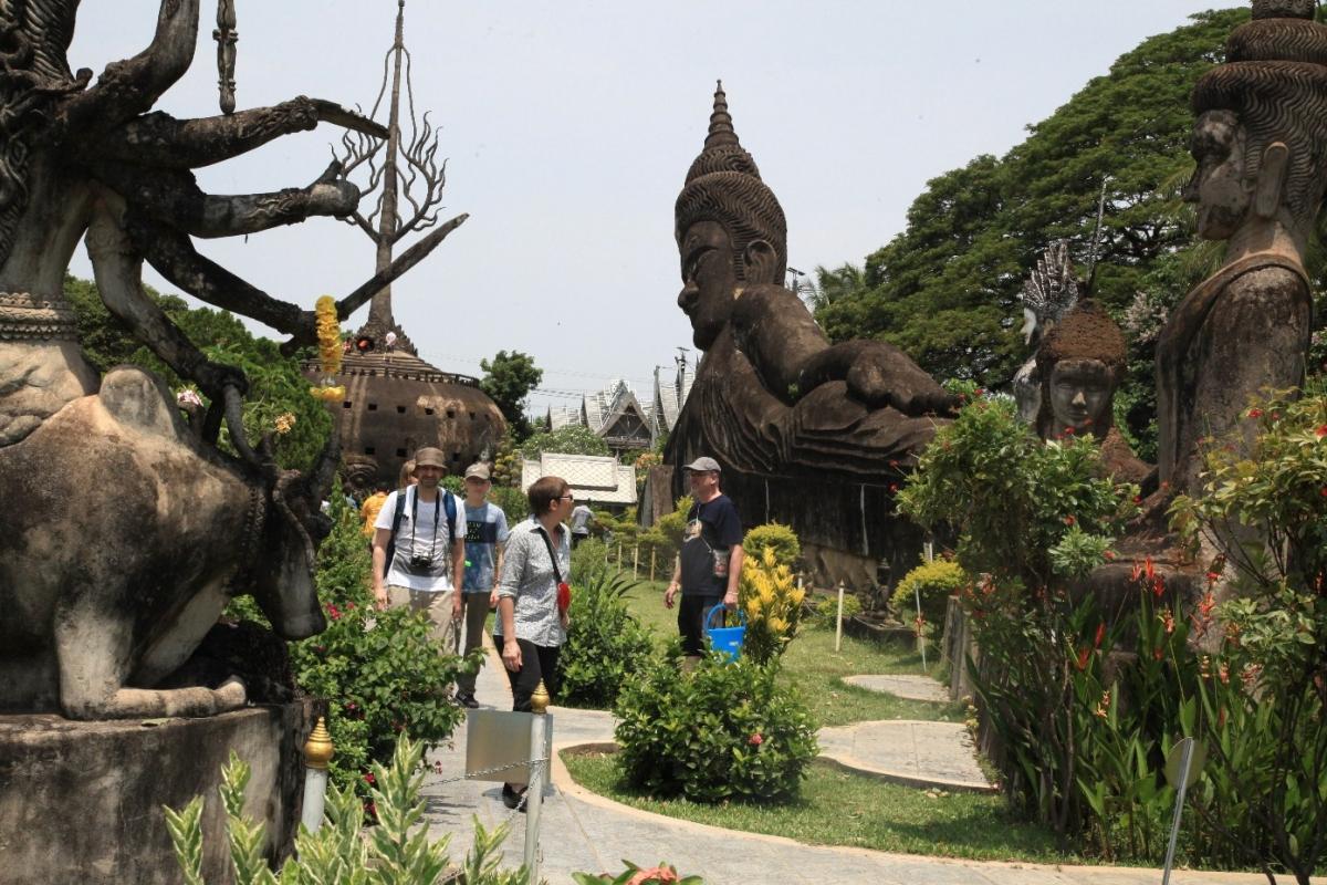 Vườn tượng Phật ở thủ đôVientiane.