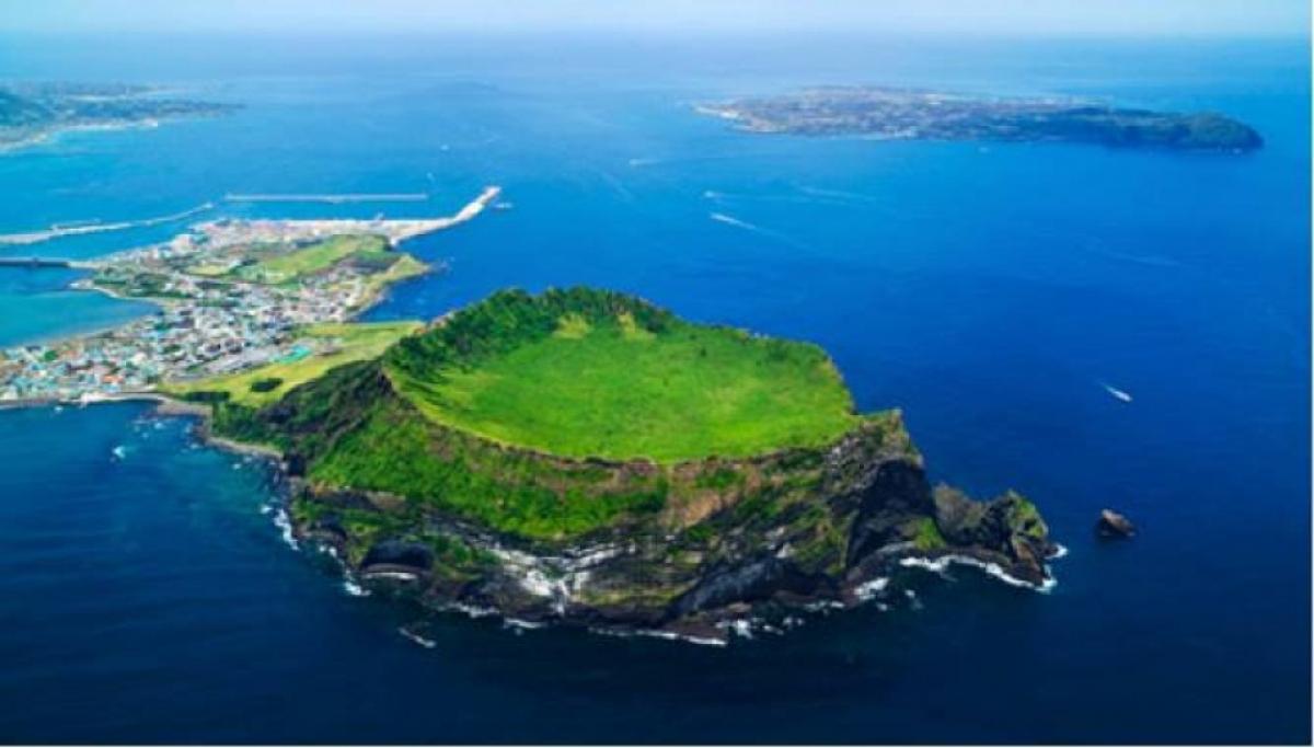 Đảo Jeju nhìn từ trên cao. (Ảnh: Thanh Niên)