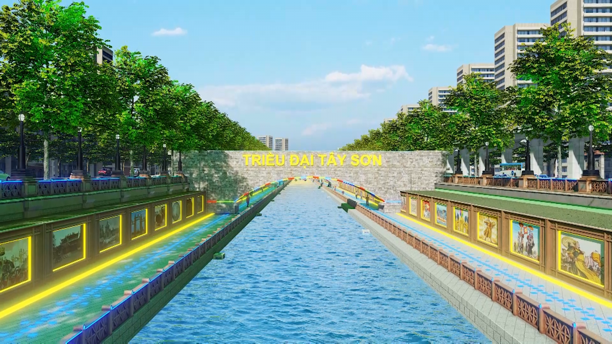 Các triều đại trong lịch sử Việt Nam được nhắc đến trong công viên.