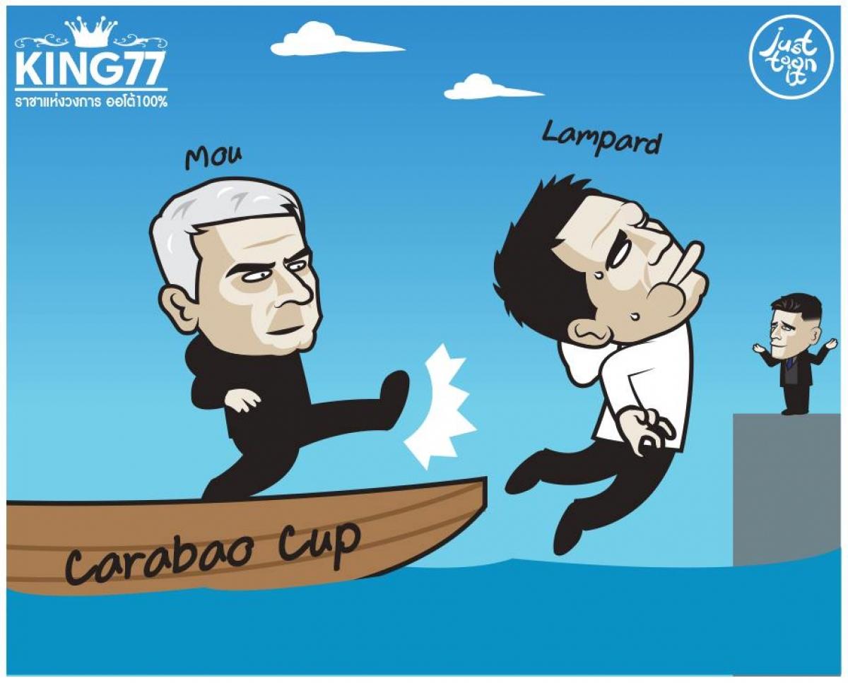 HLV Mourinho đá bay cậu học trò cũ Lampard khỏi League Cup 2020/2021.