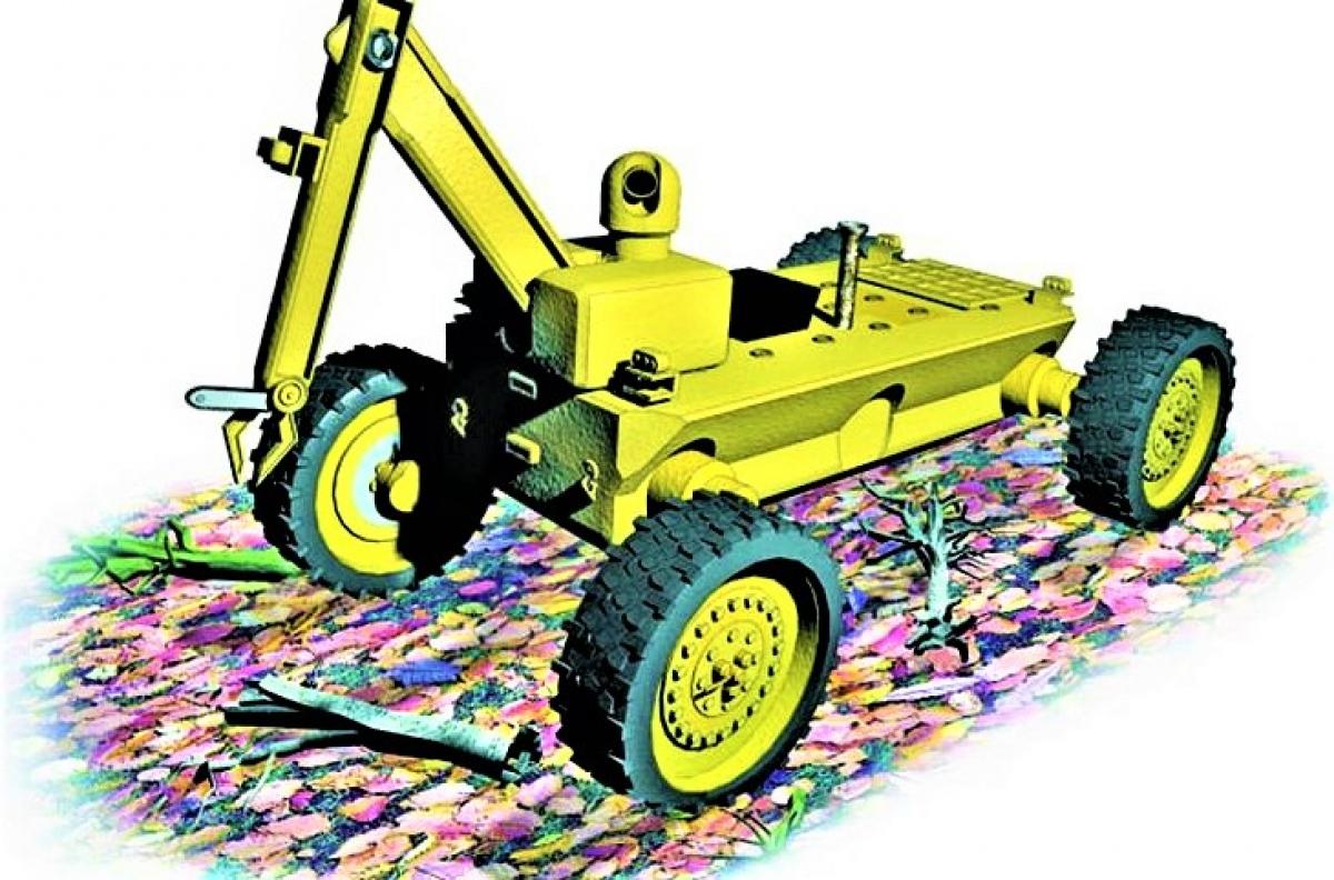 Robot ăn cỏ thuộc dự án EATR; Nguồn N&T