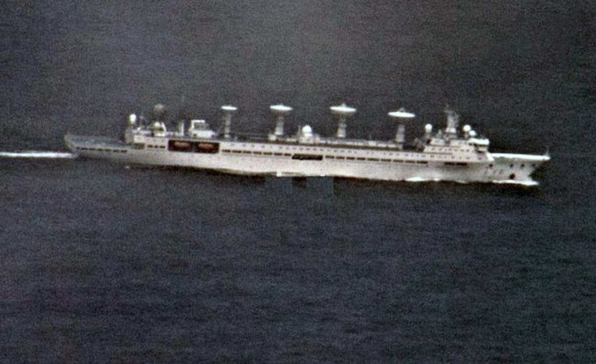 Tàu nghiên cứu hải dương lớp Yuan Wang của Trung Quốc tại vùng biển Ấn Độ Dương hồi tháng trước (ANI).