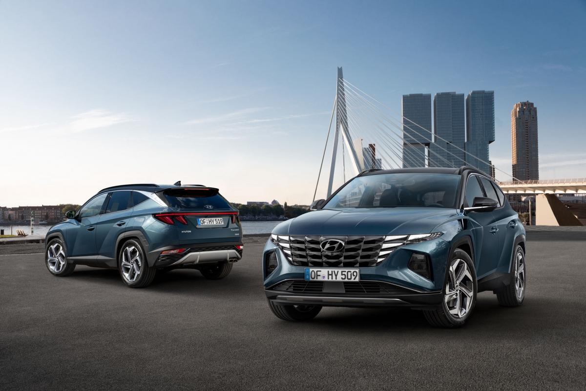 Hyundai Tucson 2021 sở hữu thiết kế ấn tượng.