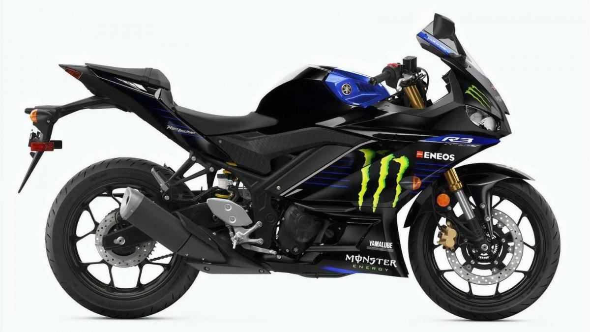 Sự mới mẻ đến từ lớp sơn khi mà chiếc Yamaha YZF-3 Monster Energy MotoGP trở nên vô cùng bắt mắt nhờ có màu sơn chủ đề đen và xanh với đồ họa hợp thời trang. Đây chính xác là những gì mà chiếc Yamaha MotorGP hiện tại đang sở hữu. Màu sơn này thực sự rất đẹp và khiến cho chiếc R3 mới trở nên nổi bật giữa đám đông.