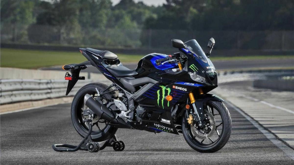 Với mức giá 5.599 USD (tương đương 129 triệu đồng), chiếc Yamaha YZF-3 Monster Energy MotoGP có một vài thay đổi về ngoại hình.