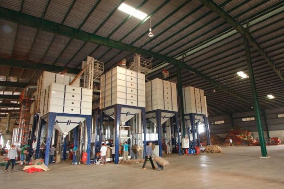 Dây chuyền đóng bao sản phẩm của công ty TNHH MTV Xuất nhập khẩu 2/9 Đắk Lắk (Simexco Đắk Lắk).