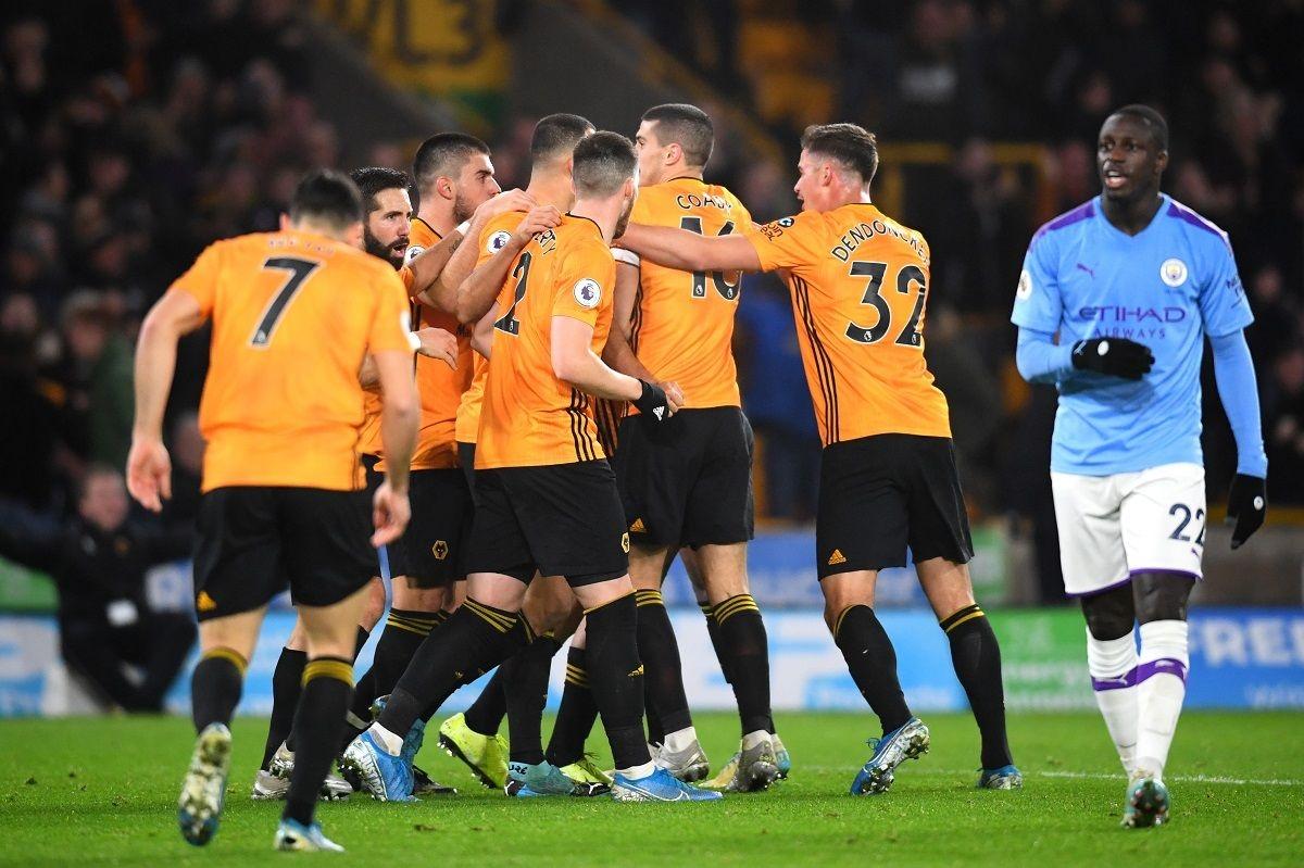 Các cầu thủ Man City chắc chắn chưa quên thất bại trước Wolves trên sân Molineux mùa giải trước. (Ảnh: Getty).