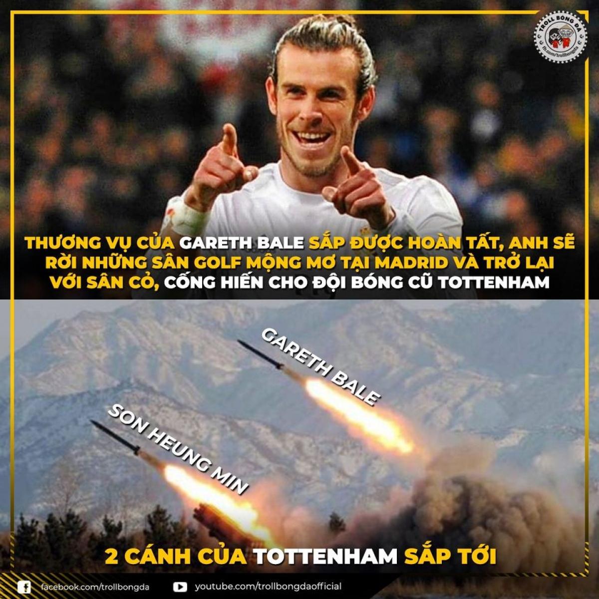 """Tottenham lại chuẩn bị sở hữu thêm một """"máy chạy"""" (Ảnh: Troll bóng đá)."""