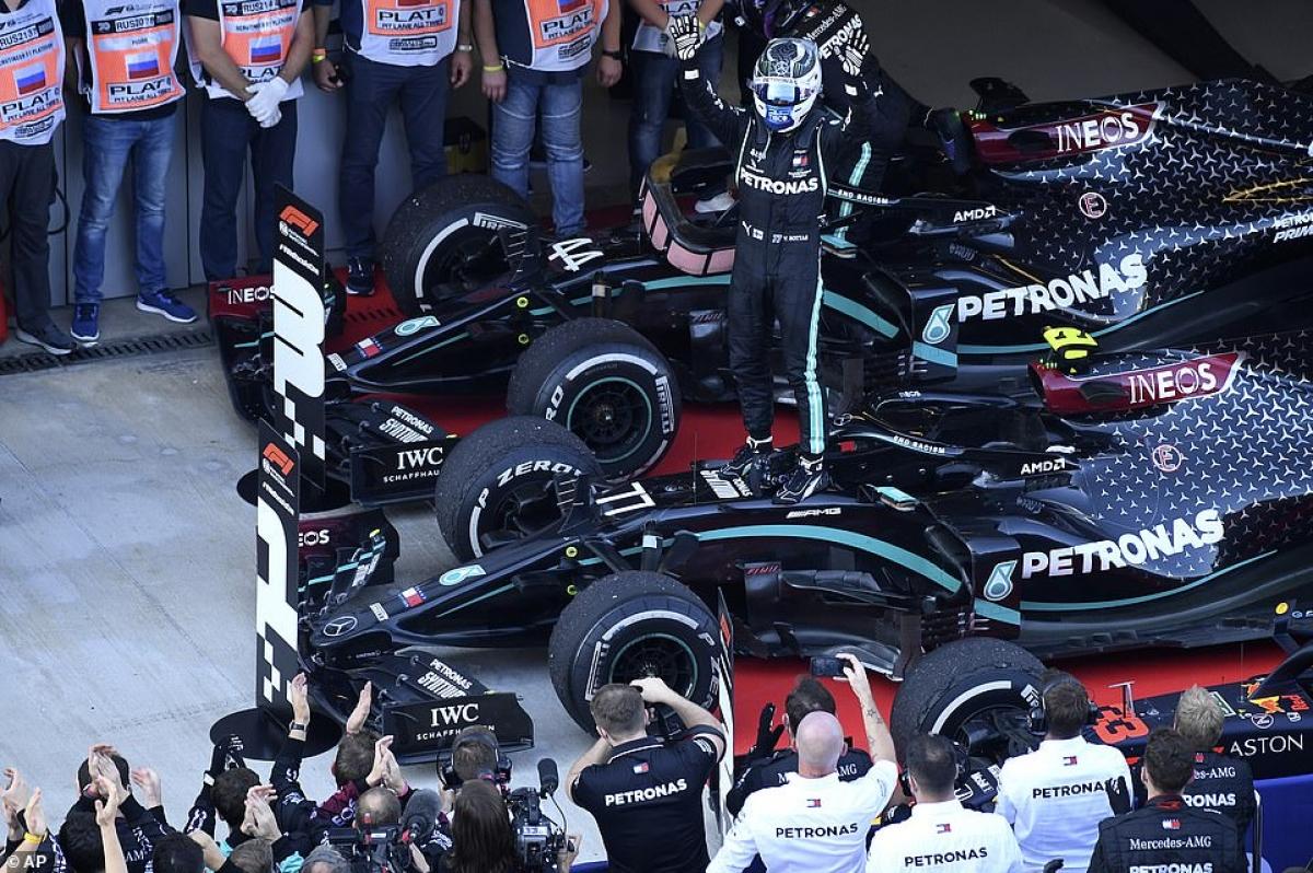 Valtteri Bottas có chiến thắng thứ hai tại mùa giải năm nay khi cán đích đầu tiên ở chặng F1 Nga. (Ảnh: AP).