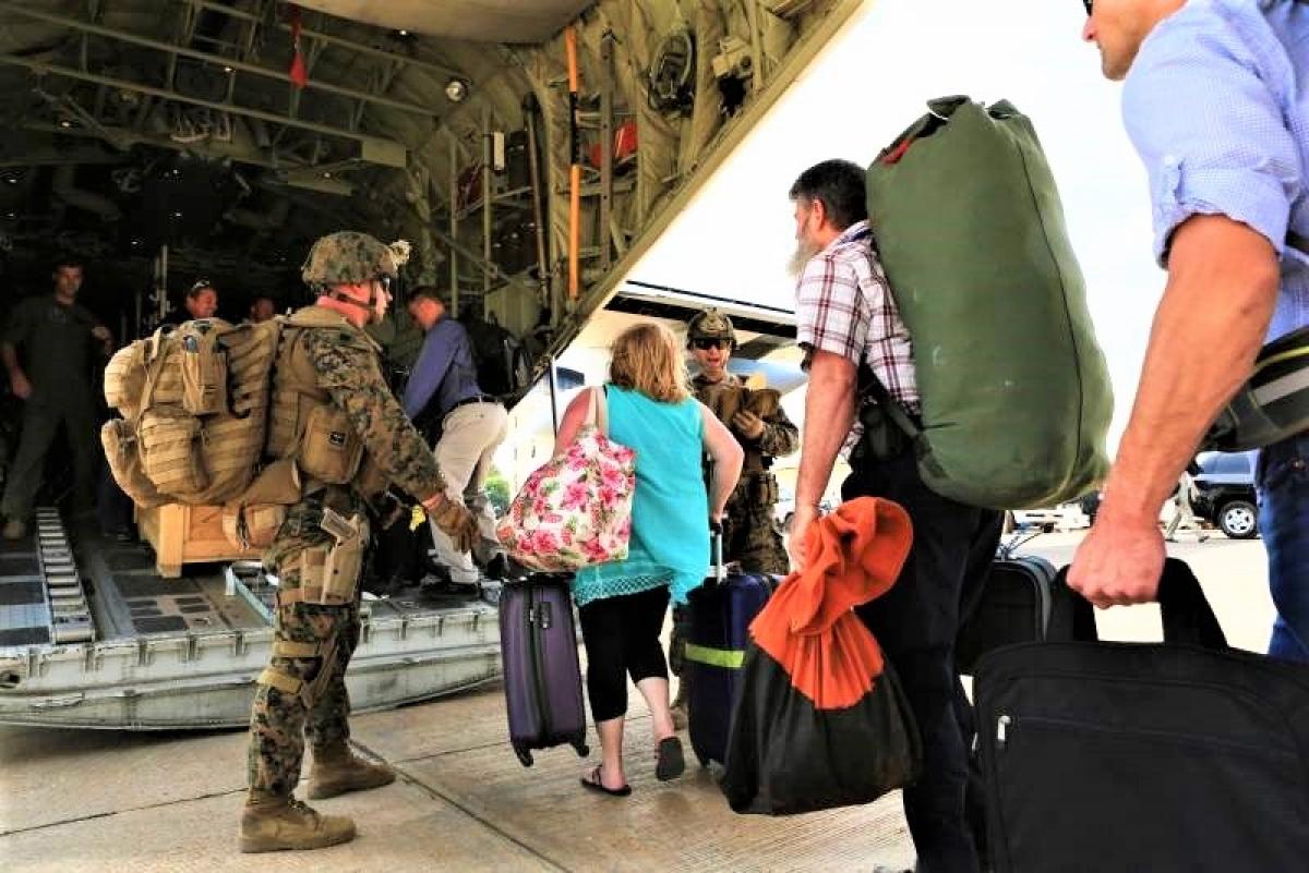 Nhiệm vụ di tản đại sứ quán và công dân Mỹ được giao cho Thủy quân Lục chiến; Nguồn: topwar.ru