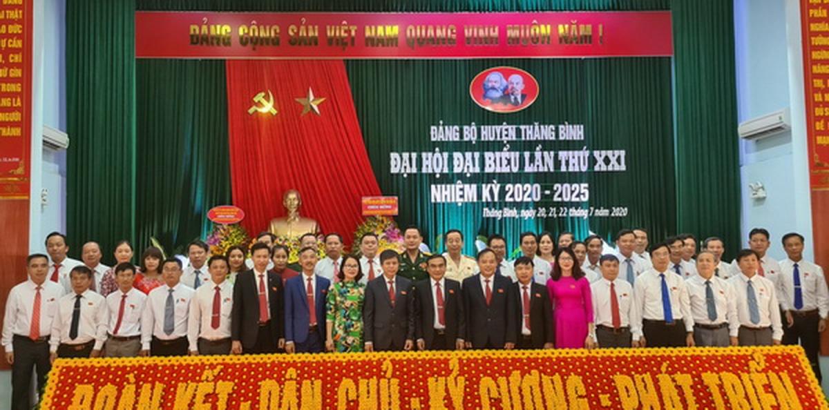 Ra mắt Ban Chấp hành Đảng bộ huyện Thăng Bình, tỉnh Quảng Nam nhiệm kỳ 2020-2025