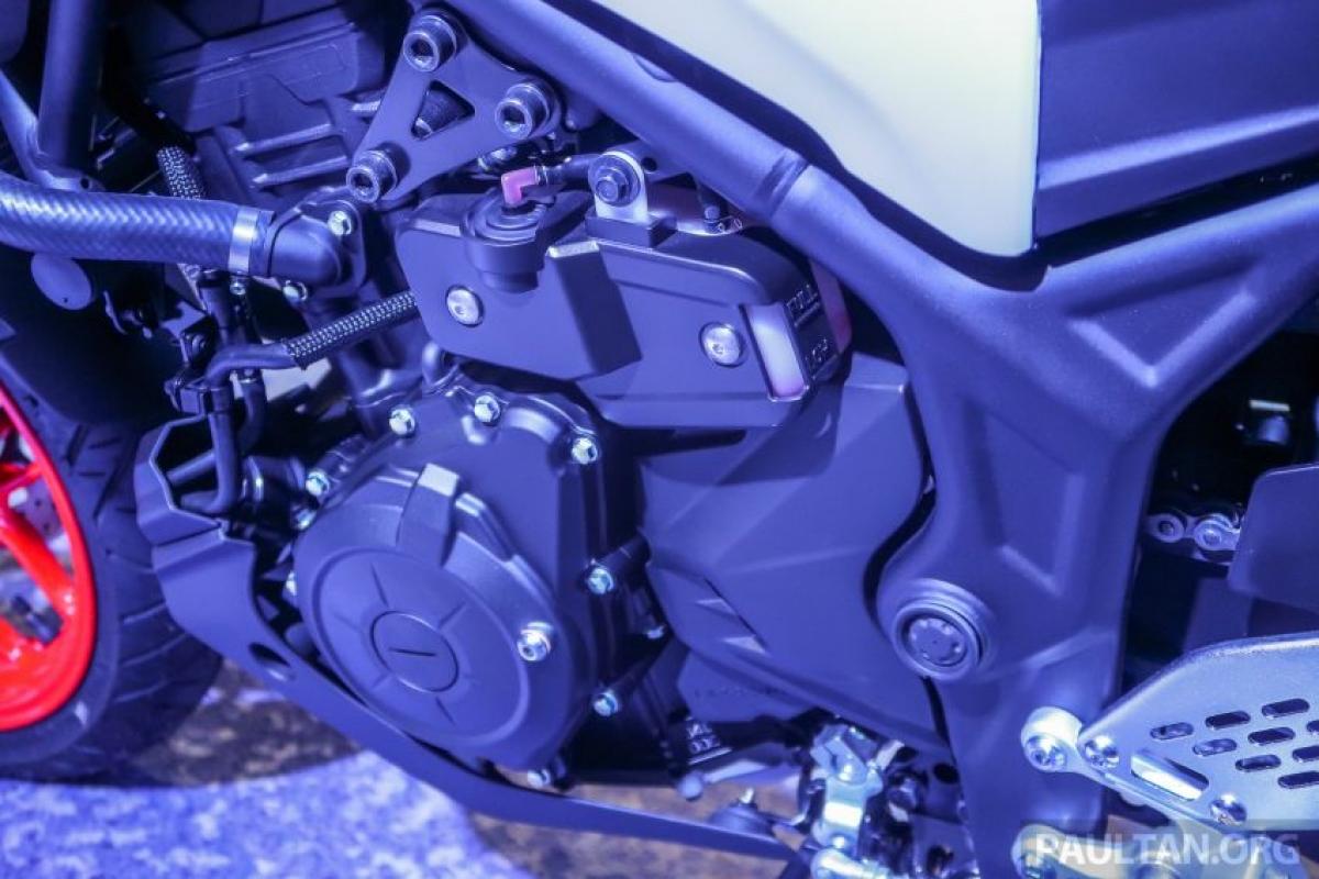 Công suất sản sinh của động cơ chiếc MT-25 được ghi nhận ở mức 35,5 mã lực tại vòng quay 12.000 vòng/phút và mô men xoắn 23,6 Nm tại vòng quay 10.000 vòng/phút.