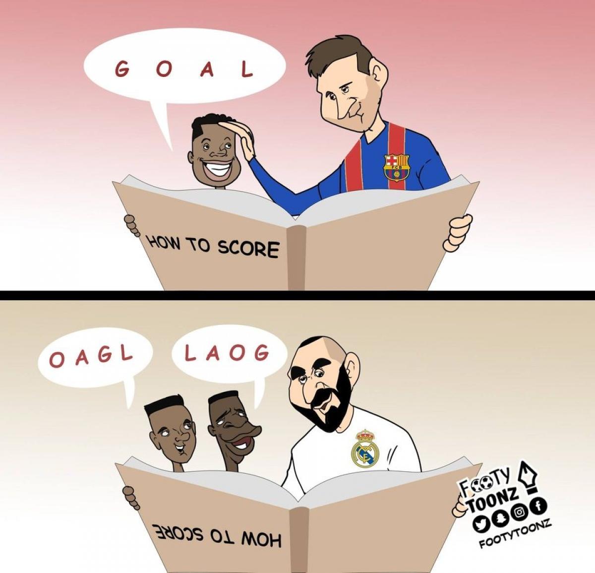 Benzema bất lực trong việc dạy các sao trẻ của Real Madrid cách ghi bàn.