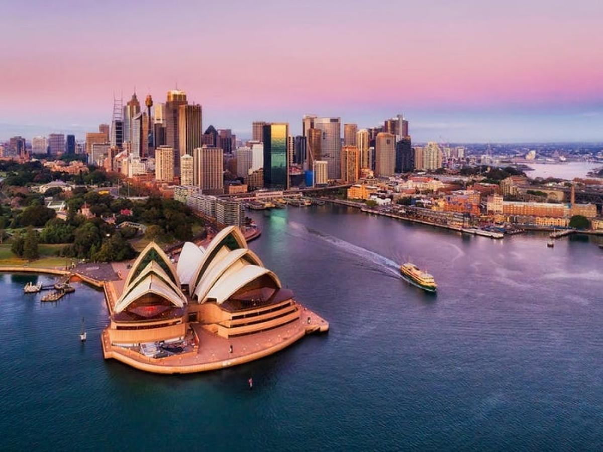 Du lịch Australia.