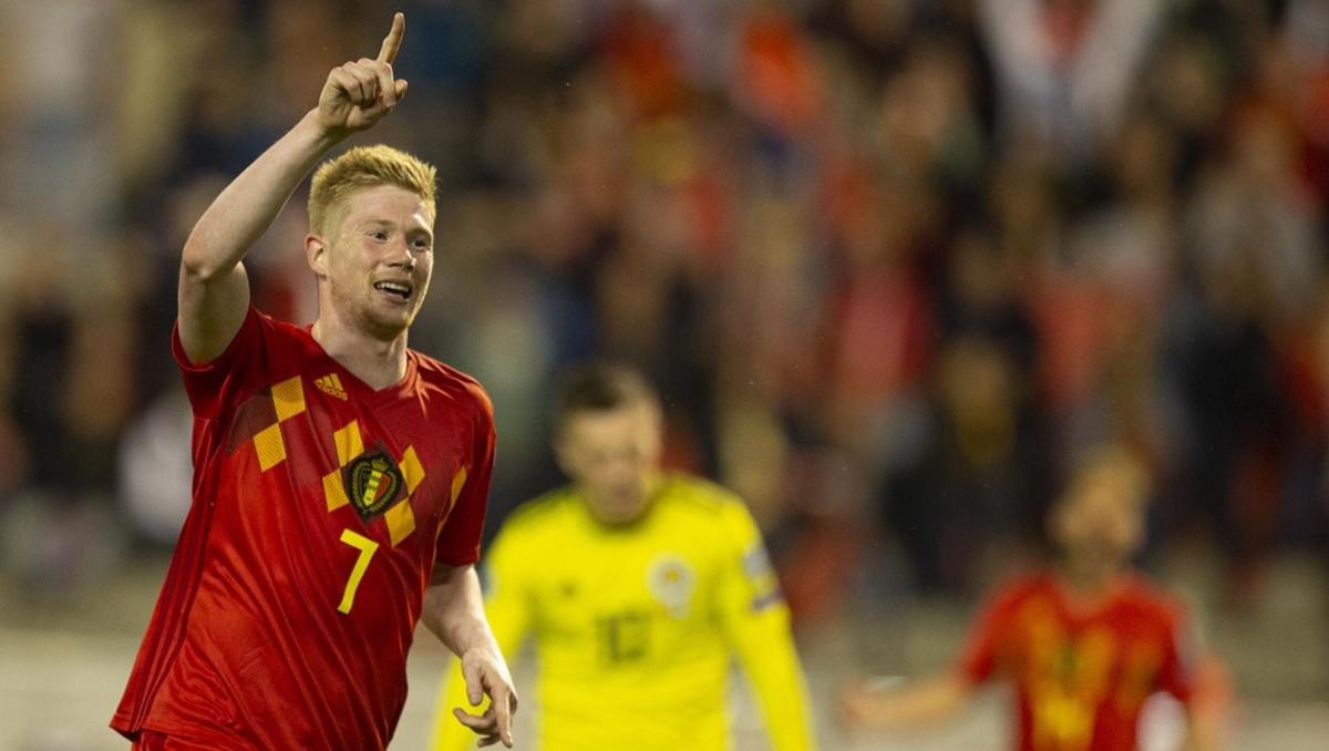 Tiền vệ: Kevin De Bruyne – Bỉ - 8,0 điểm