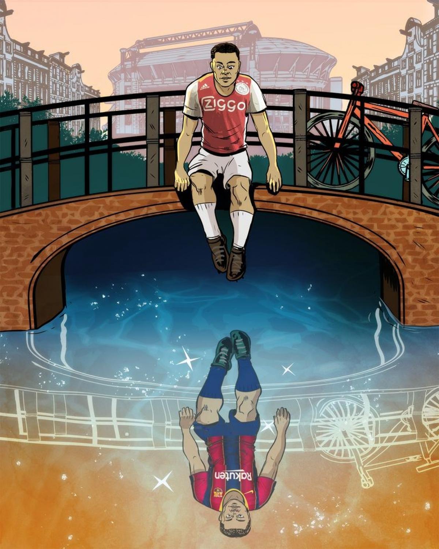 Barca sắp sở hữu sao trẻ Sergiño Dest từ Ajax (Ảnh: Bleacher Report).