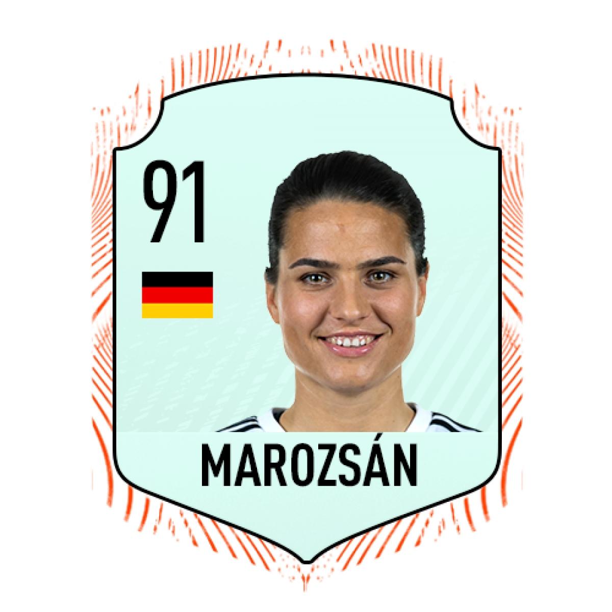 6. Dzsenifer Marozsán (Đức) | Chỉ số tổng 91