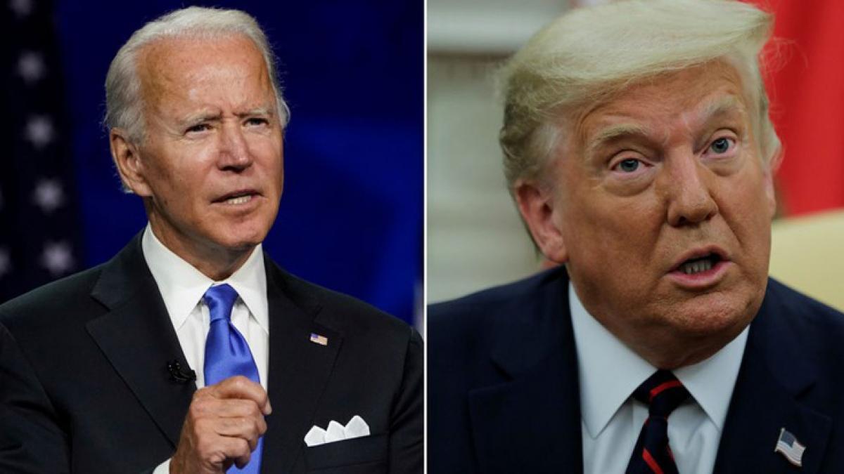 Ứng viên đảng Dân chủ Joe Biden và Tổng thống Mỹ Donald Trump (Ảnh: Reuters)