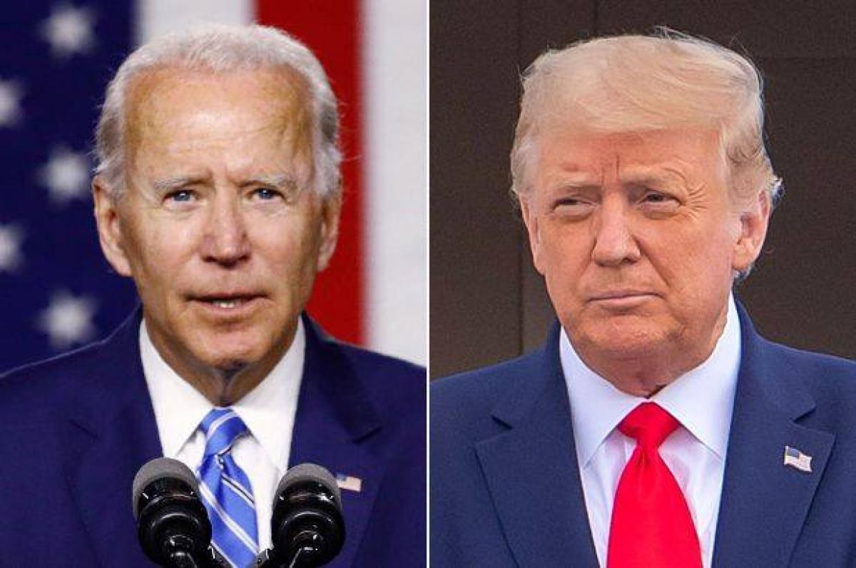 Ứng viên đảng Dân chủ Joe Biden (trái) và Tổng thống Donald Trump (phải). Ảnh: AP