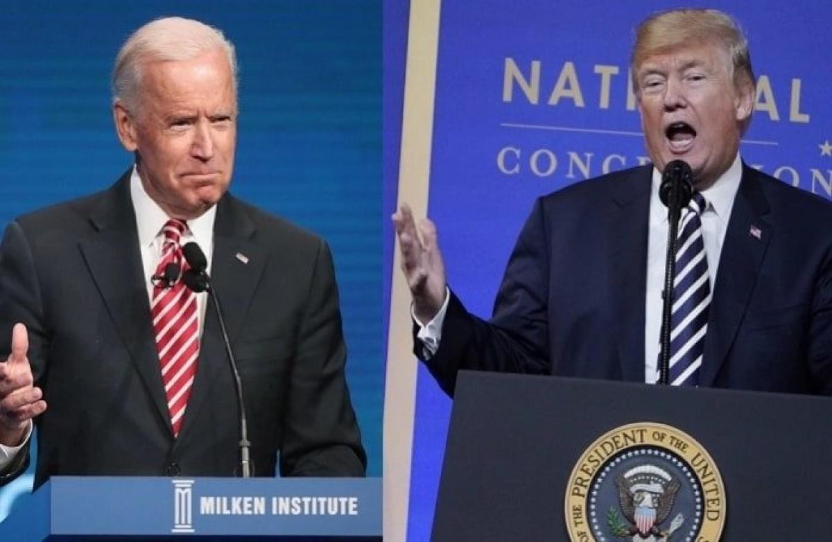 Ứng viên đảng Dân chủ Joe Biden và Tổng thống Donald Trump. Ảnh: New York Times