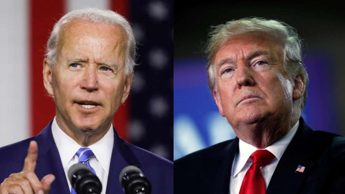 Ứng viên đảng Dân chủ Joe Biden và Tổng thống Mỹ Donald Trump. Ảnh: Reuters
