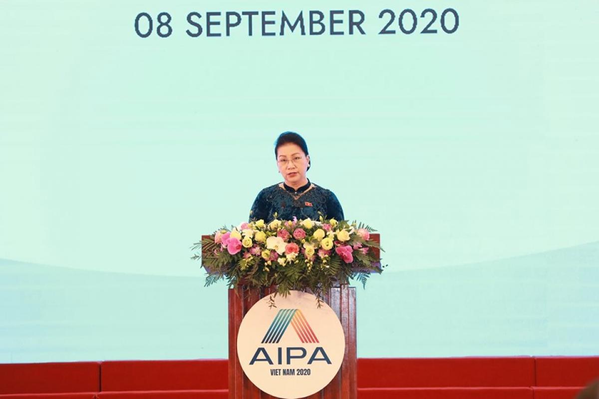 Chủ tịch Quốc hội Nguyễn Thị Kim Ngân phát biểu khai mạc Đại hội đồng AIPA 41