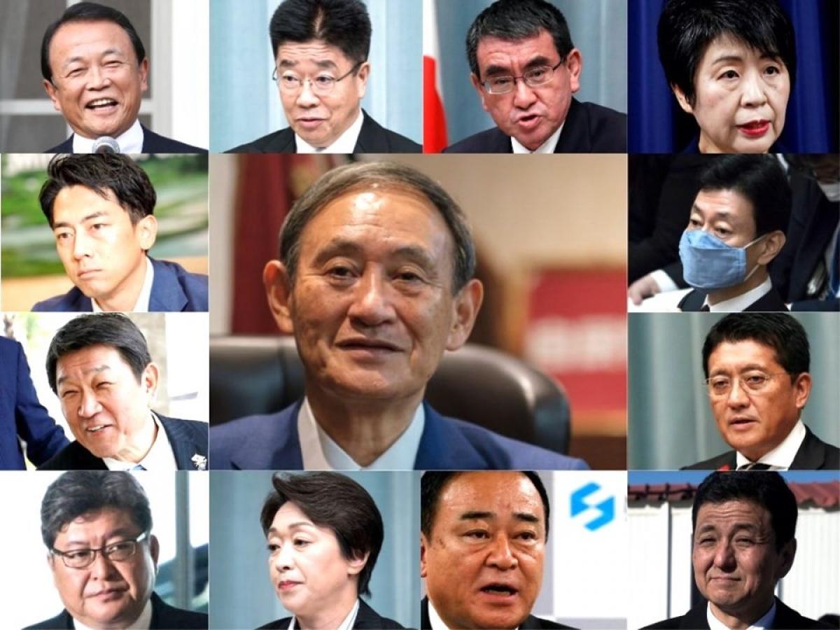Các thành viên trong Nội các mới của Nhật Bản. Ảnh:Business Insider Japan.