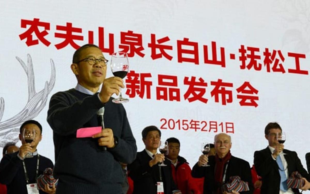 Ông Zhong Shanshan - nhà sáng lập công ty nước đóng chai Nongfu Spring. (Ảnh: Getty Images)