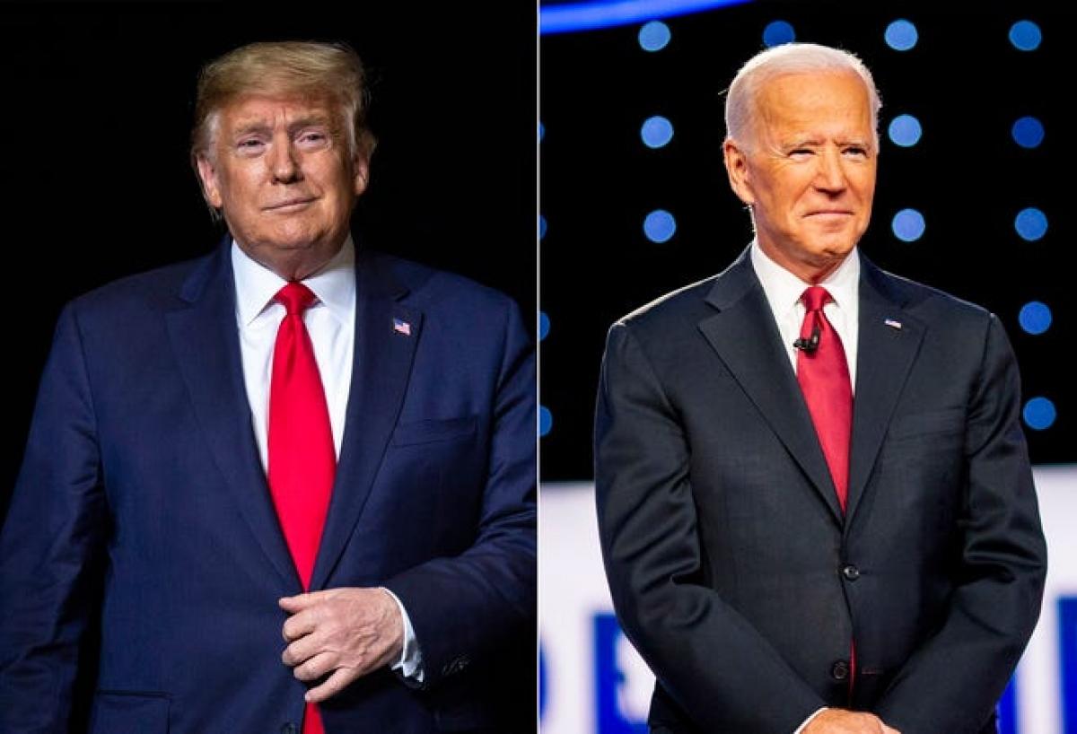 Tổng thống Mỹ Donald Trump và ứng viên đảng Dân chủ Joe Biden. Ảnh: USA Today