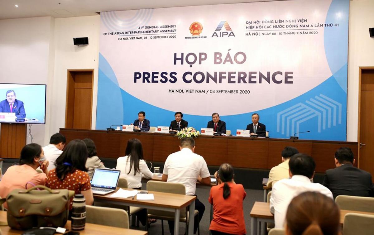 Họp báo thông tin về Năm Chủ tịch AIPA 2020 và Đại hội đồng lần thứ 41, Hội đồng Liên nghị viện ASEAN (AIPA 41), chiều 4/9