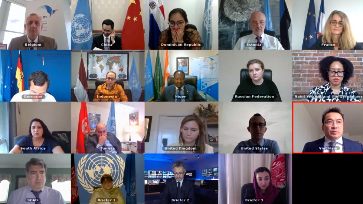 Hội đồng Bảo an LHQ họp trực tuyến về Afghanistan.