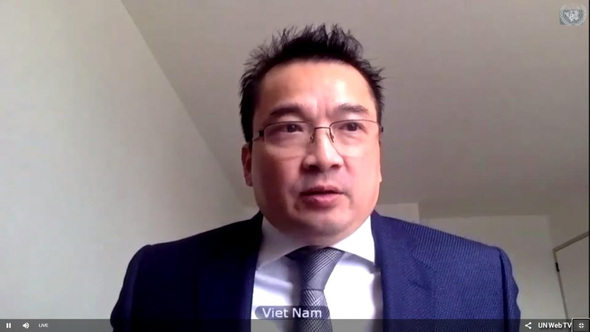 Đại sứ Phạm Hải Anh, Phó Trưởng phái đoàn Thường trực Việt Nam tại Liên Hợp Quốc.