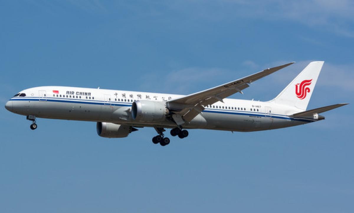 Máy bay của hãng Air China. (Ảnh: AP)