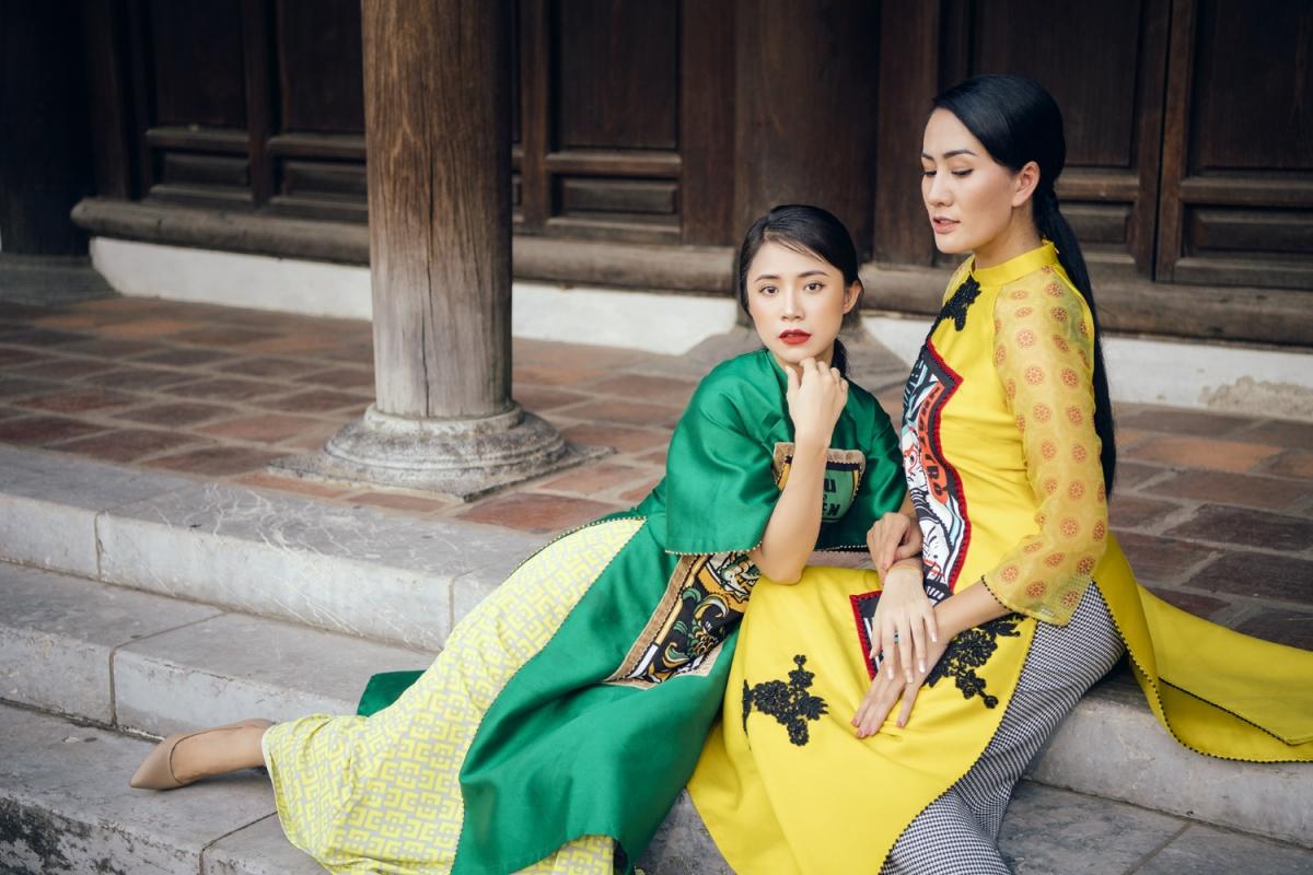 Người mẫu thể hiện BST cho Cao Minh Tiến là Quán quân Vietnam's Next Top Model 2017 Kim Dung, mẹ con diễn viên Khuất Quỳnh Hoa và diễn viên Minh Cúc./.