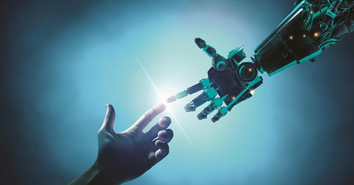 AI giúp con người giải quyết nhiều vấn đề khó khăn, như xử lý và phân tích dữ liệu lớn. Ảnh: softwarefirms.co