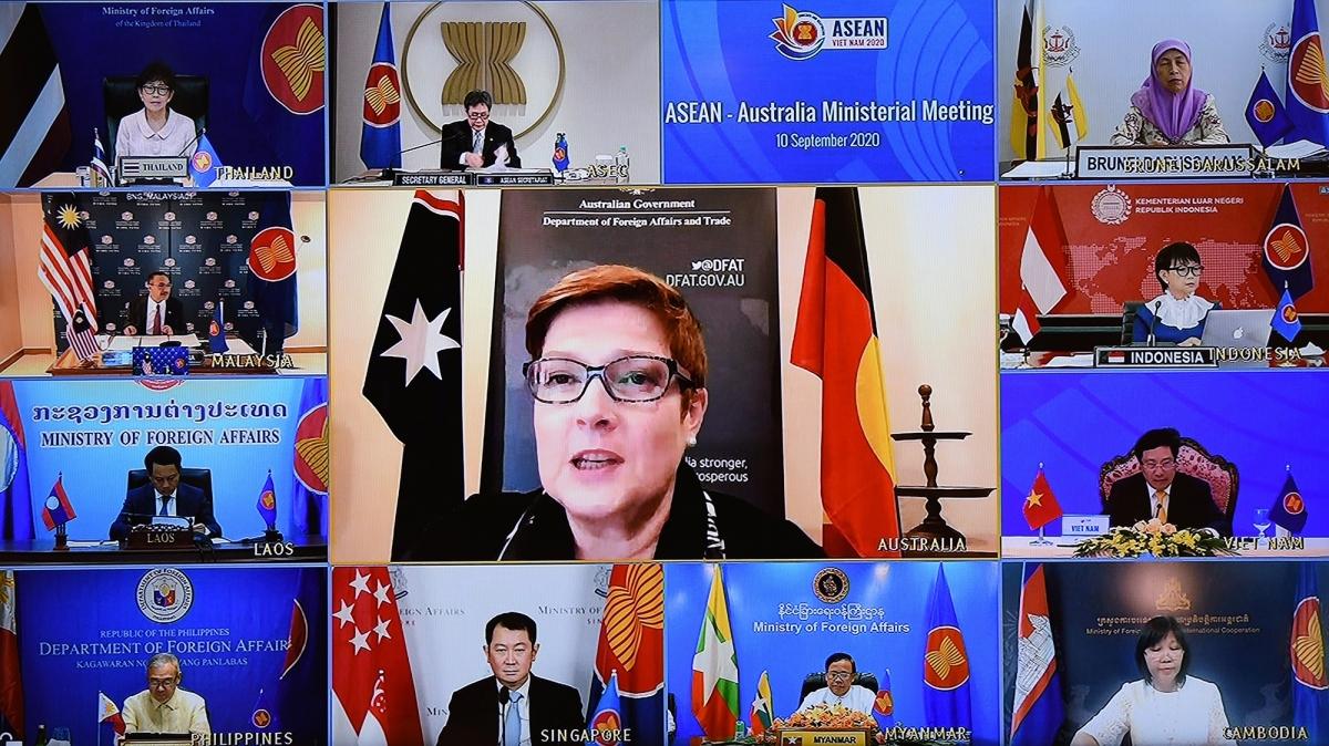 Bộ trưởng Ngoại giao Australia Marise Payne phát biểu tại Hội nghị.