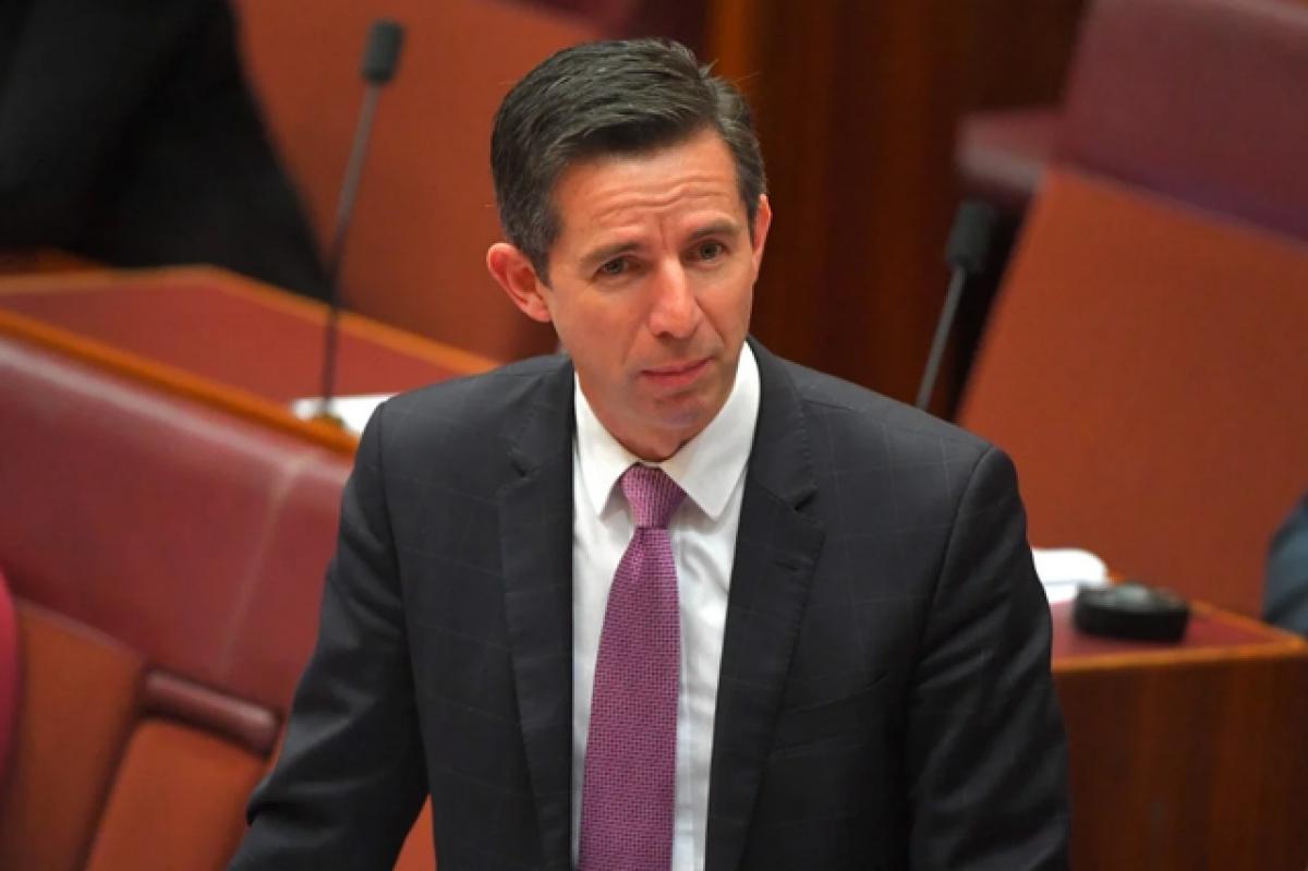 Bộ trưởng Thương mại Australia Simon Birmingham (Ảnh: EPA).