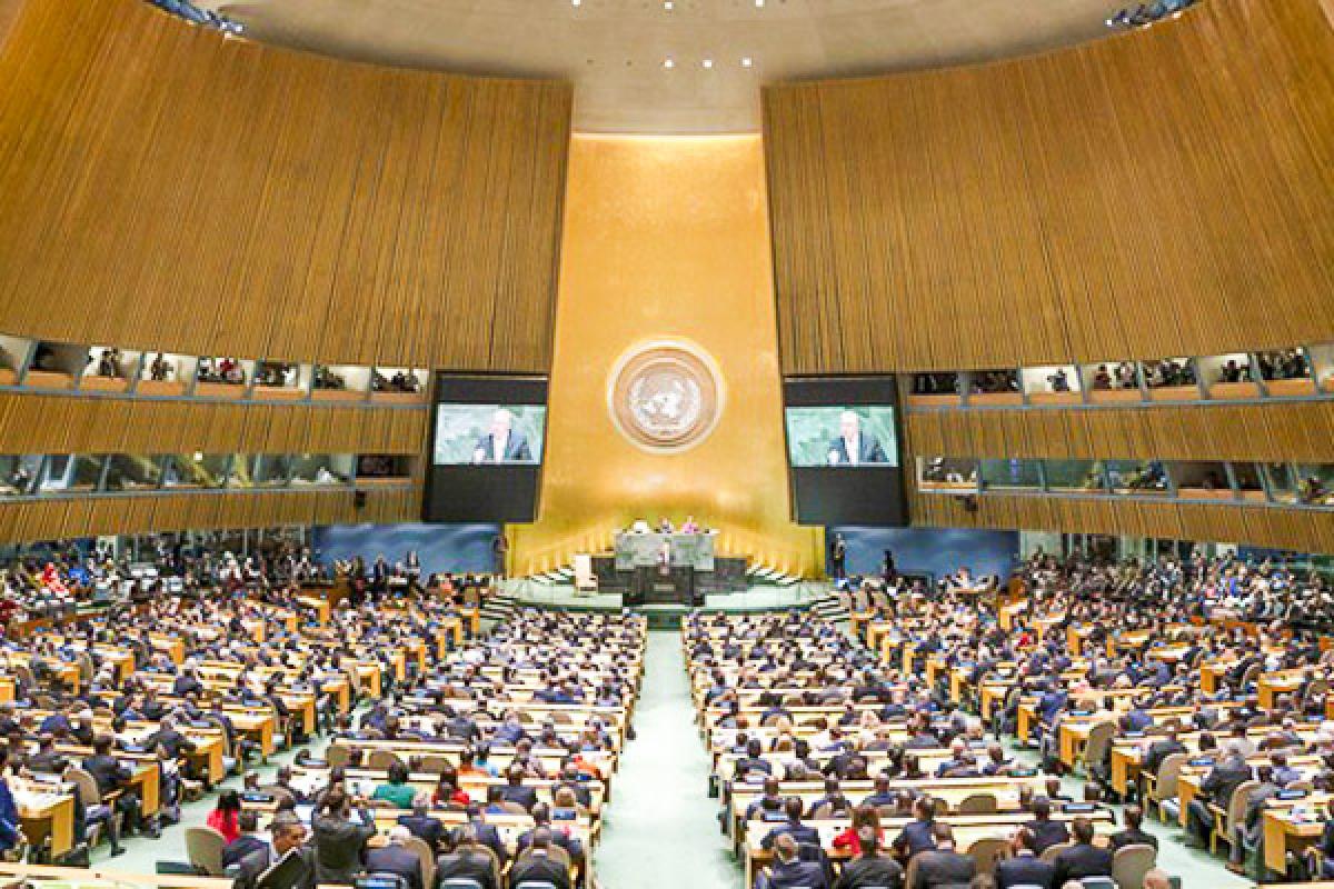 Một cuộc họp của Liên Hợp Quốc. Ảnh: UN Photo