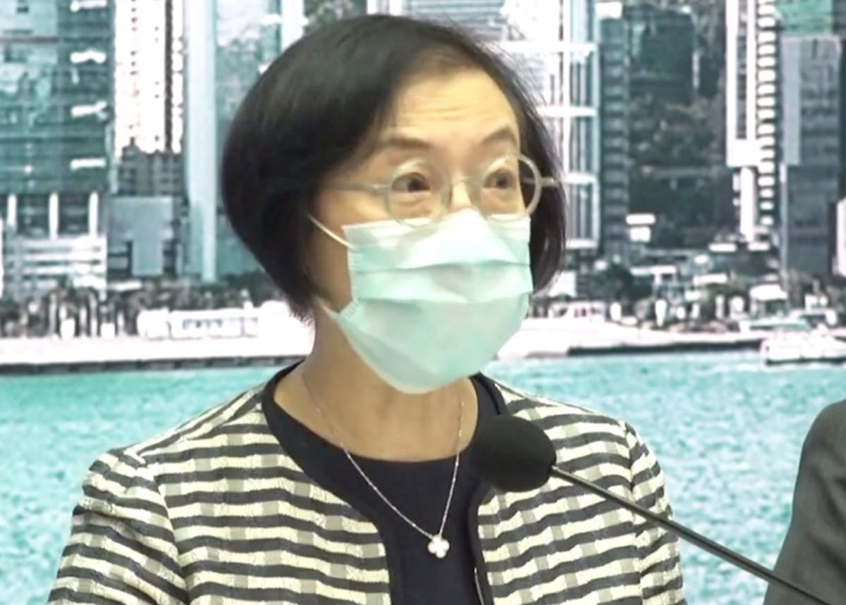 Bà Trần Triệu Thủy, Cục trưởng Y tế và thực phẩm Hong Kong. Nguồn Thời báo hoàn cầu.