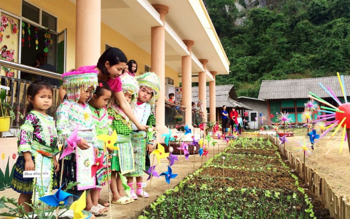 Điểm Trường Mầm non Bản Tèn (xã Văn Lăng, huyện Đồng Hỷ, Thái Nguyên) vào năm học mới 2020-2021. (Ảnh: Báo Thái Nguyên)