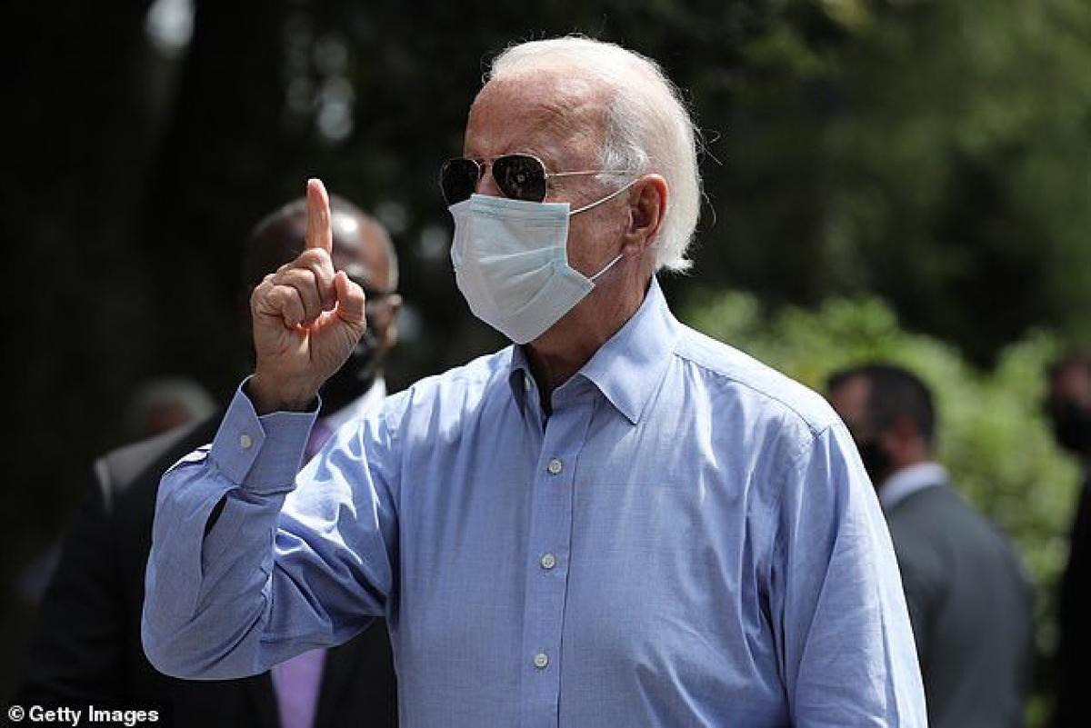 Ứng viên đảng Dân chủ Joe Biden tại Lancaster, bang Pennsylvania ngày 7/9. Ảnh: Getty Images